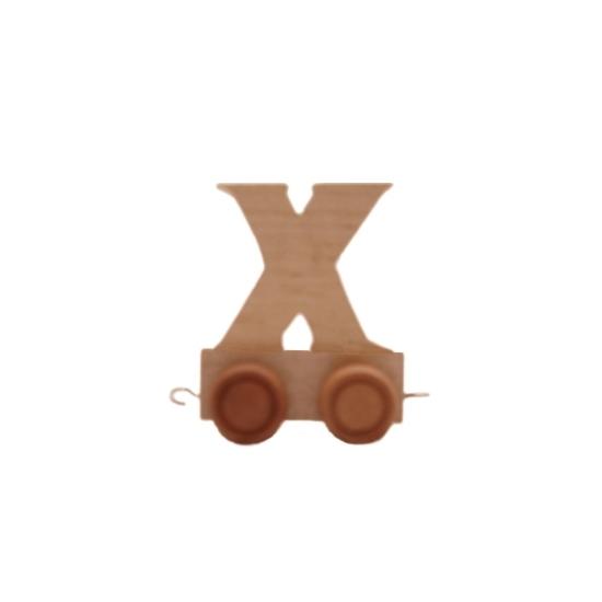 Image of Houten trein met de letter X