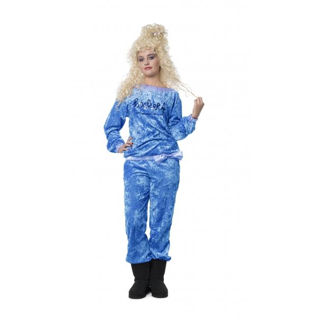 Blauw roy donders look a like huispak. blauw huispak kostuum met fluweel look en in blauwe pailletten het ...