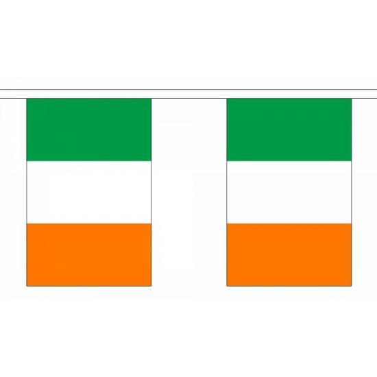 Ierland vlaggenlijn rechthoekig