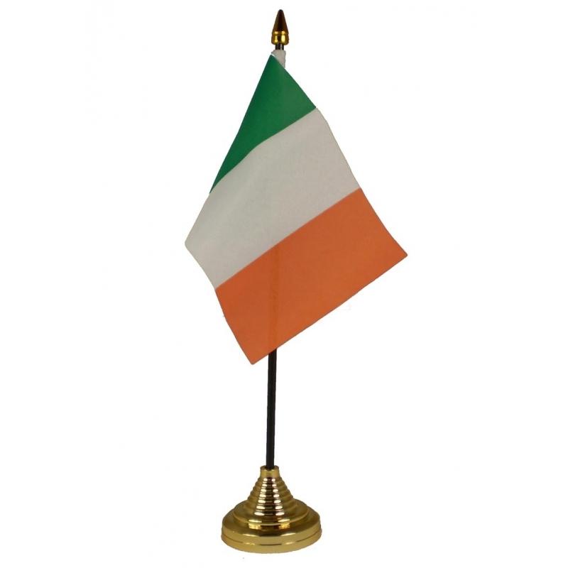 Image of Ierland vlaggetje voor op tafel