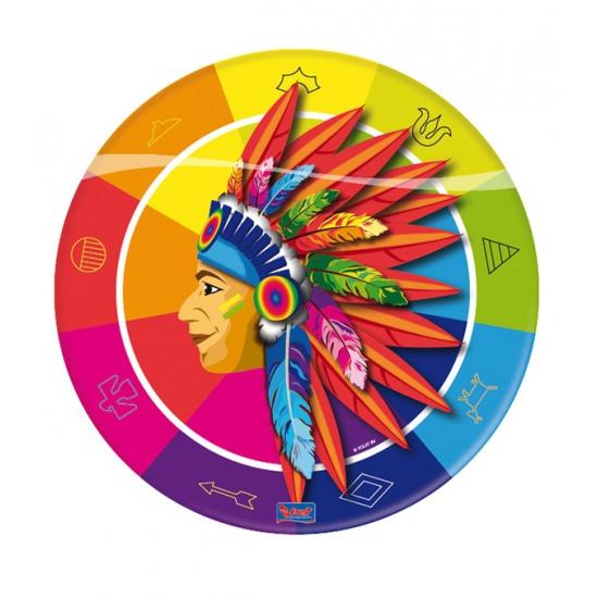 Image of Indianen feest bordjes 23 cm