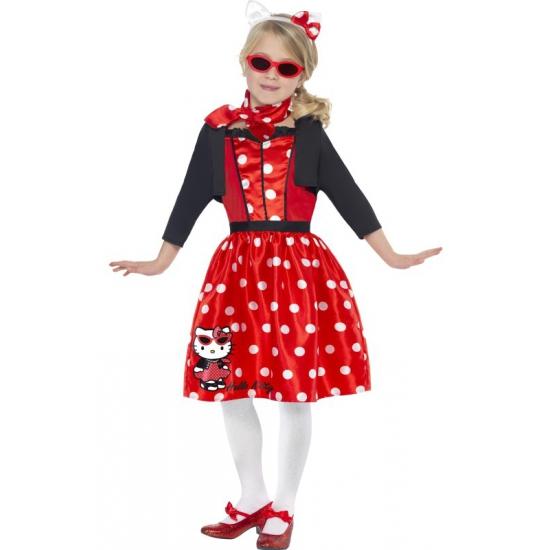 Image of Jaren 50 Hello Kitty jurkje rood