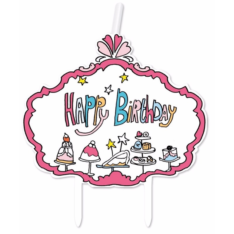 Image of Kaarsje happy birthday verjaardag