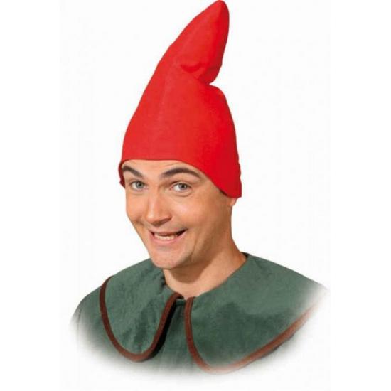 Image of Kabouter puntmuts rood volwassenen
