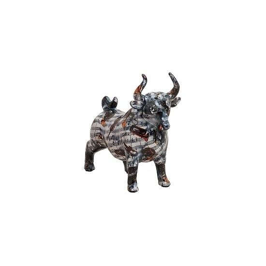 Kado spaarpot zwarte stier 22 cm