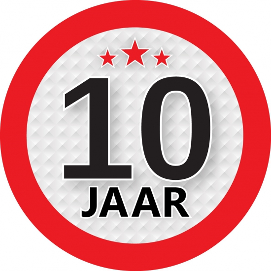 Image of Kadosticker 10 jaar