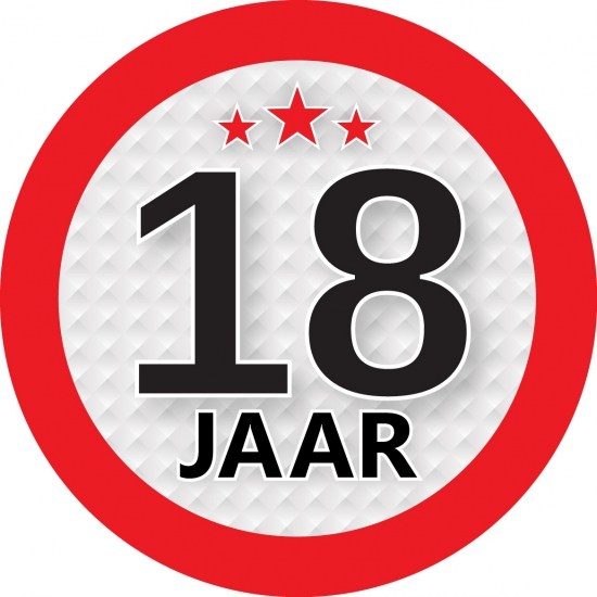 Image of Kadosticker 18 jaar