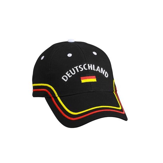 Image of Katoenen Duitsland fan pet zwart
