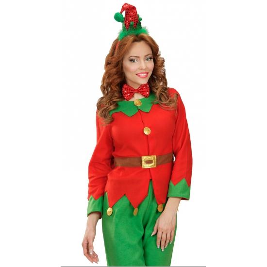 Image of Kerst diadeem mini elfen mutsje met strik