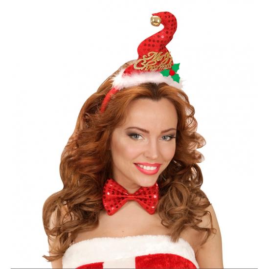 Image of Kerst diadeem mini kerst mutsje met strik