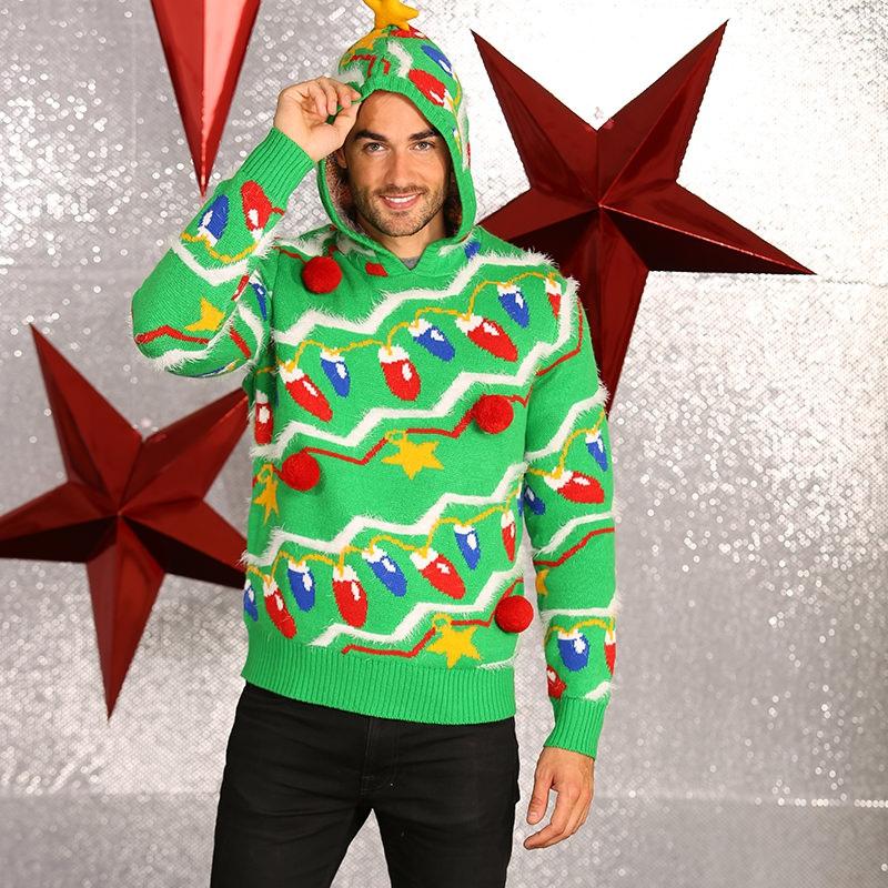 Heren Foute Kersttrui.Kerst Kado Foute Kersttrui Groen Voor Heren Oranjeshopper Kopen