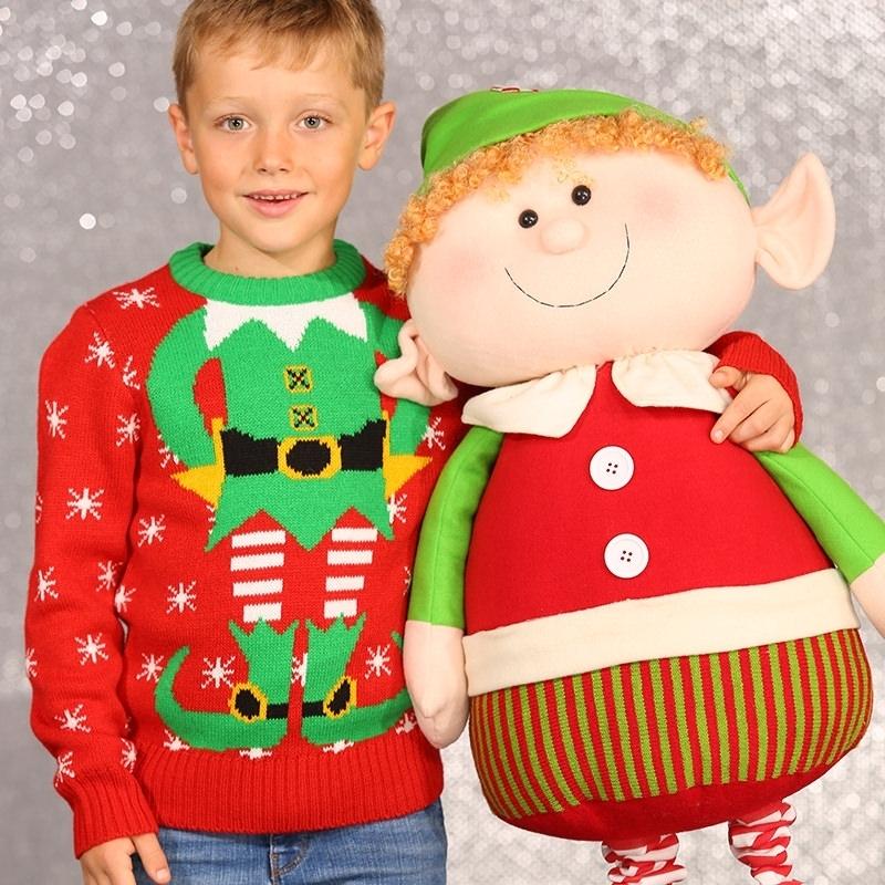 Image of Kerst kado foute kids kersttrui kerstelf