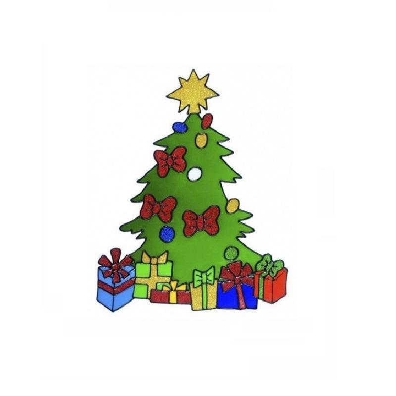 Image of Kerst raamsticker kerstboom