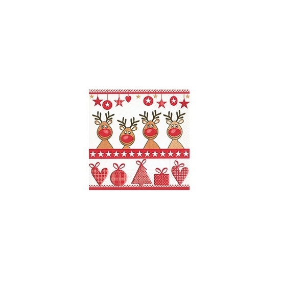 Image of Kerst servetten 4 red noses
