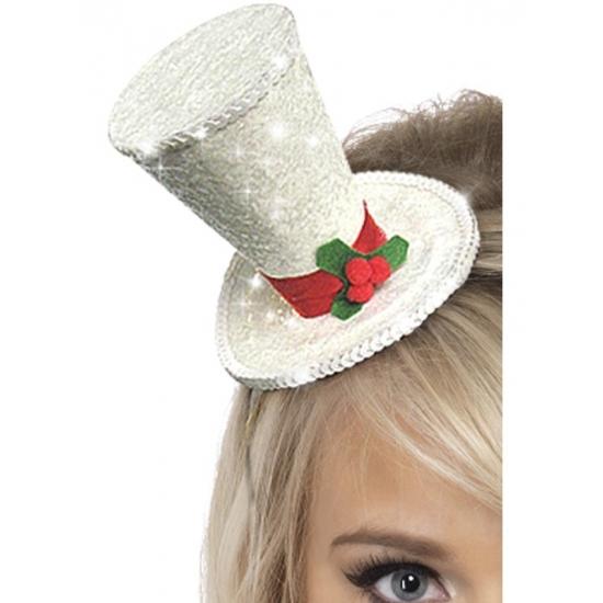 Image of Kerst thema hoedje met hulst