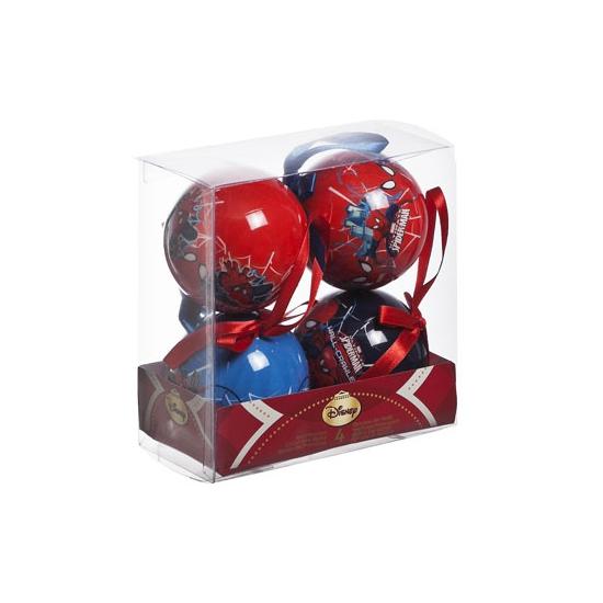 Image of Kerstballen Spiderman 4 stuks