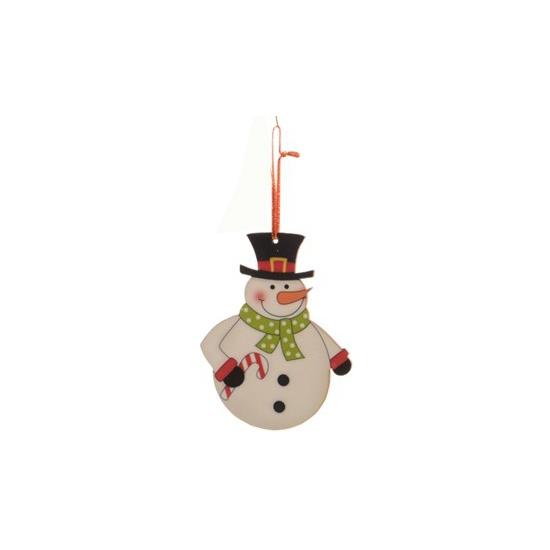 Image of Kerstboom decoratie sneeuwpop 12 cm