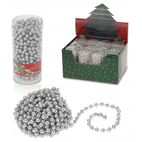 Image of Kerstboom versiering zilveren kralen