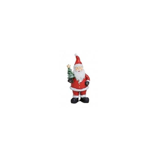 Image of Kerstman beeldje met kerstboom 9 cm