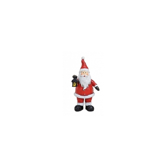 Image of Kerstman beeldje met lantaarn 9 cm