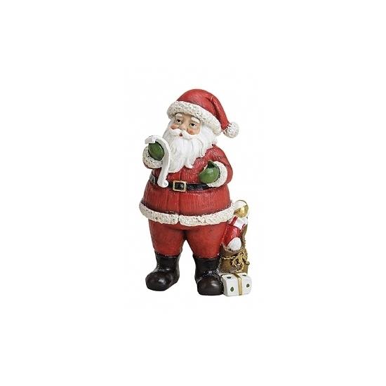 Image of Kerstman beeldje met naamlijstje 19 cm