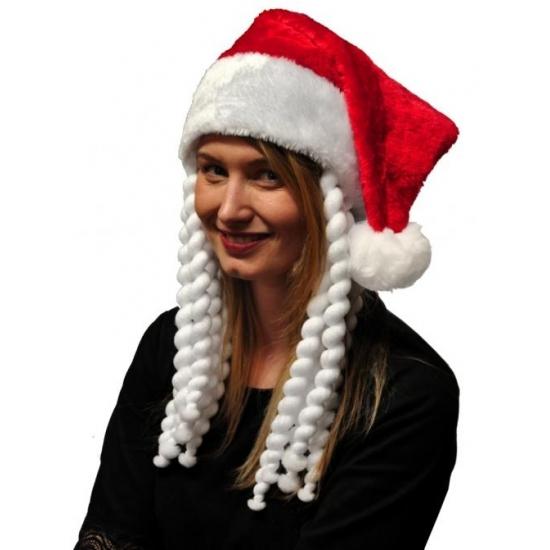 Image of Kerstmuts met vlechten