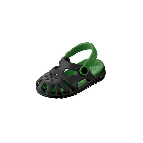 Image of Kids waterschoen sandalen zwart met groen