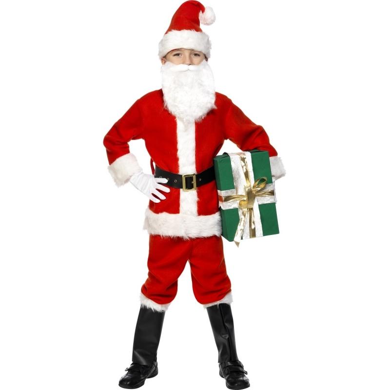 Kinder kerstman kostuum. luxe kerstman kostuum voor jongens en meisjes. dit kinder kerstman kostuum deluxe is ...