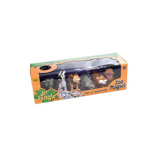 Image of Kinder knijpdiertjes safari 6 stuks