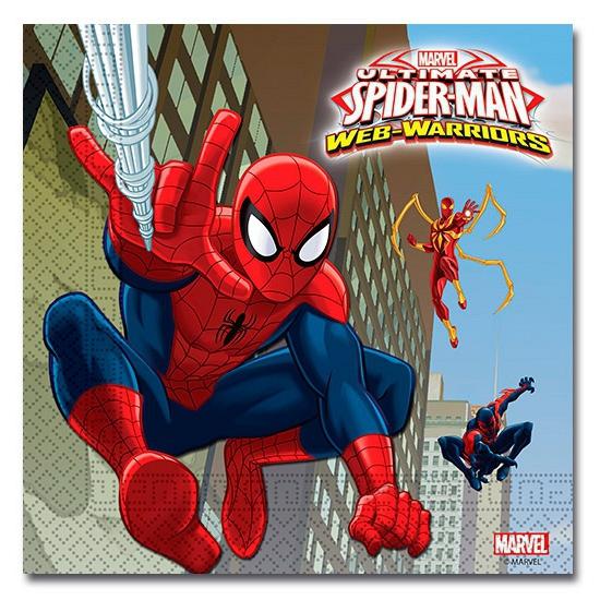 Image of Kinder verjaardag Spiderman servetten 20 stuks