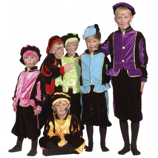 Image of Kinder zwarte Piet kostuums rood