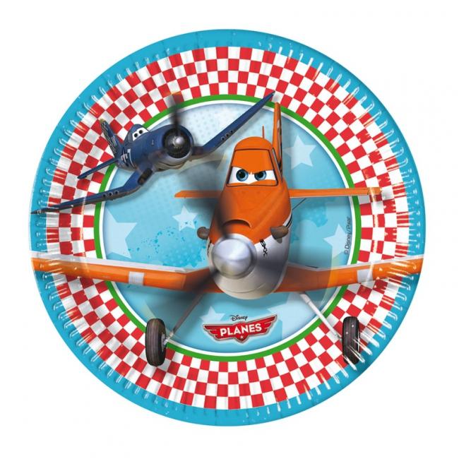 Planes feestbordjes 8 stuks. leuke kartonnen bordjes met plaatjes van planes. het formaat van de planes ...