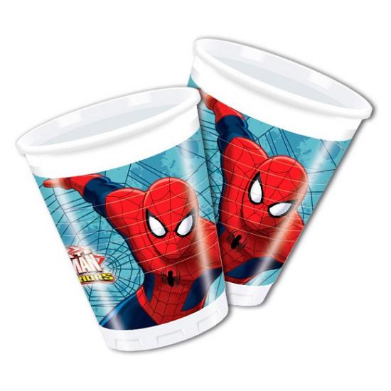 Image of Kinderfeestje Spiderman bekers 8 stuks