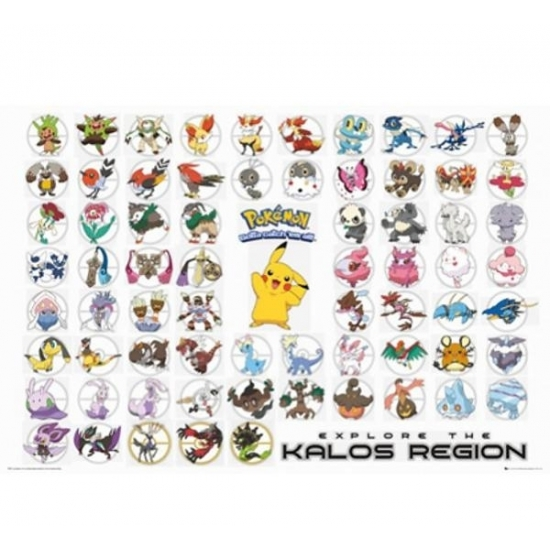 Image of Kinderkamer poster van Pokemon soorten
