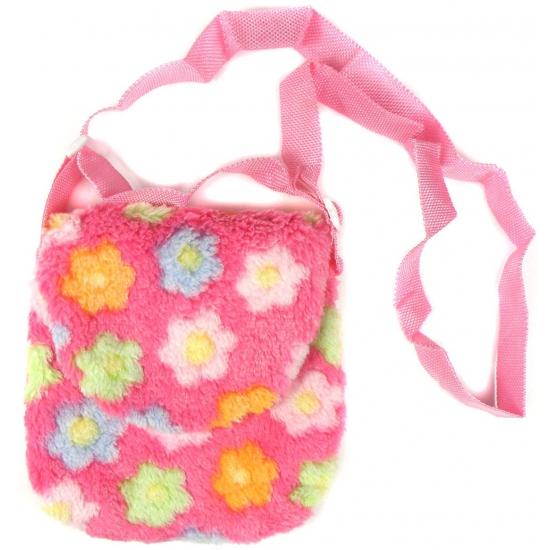 Image of Kindertas roze met bloemetjes