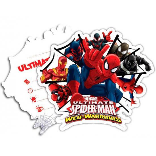 Image of Kinderverjaardag Spiderman Warriors uitnodigingen