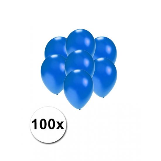 Image of Kleine ballonnen blauw metallic 100 stuks