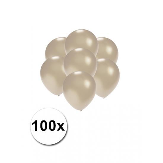 Image of Kleine ballonnen zilver metallic 100 stuks