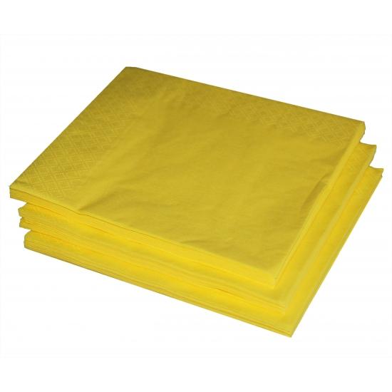 Image of Kleuren versiering gele servetten 25x