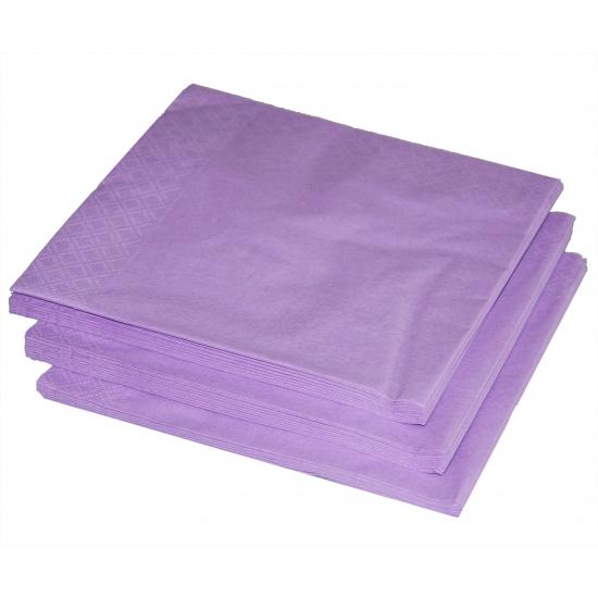 Image of Kleuren versiering lila paars servetten 25x