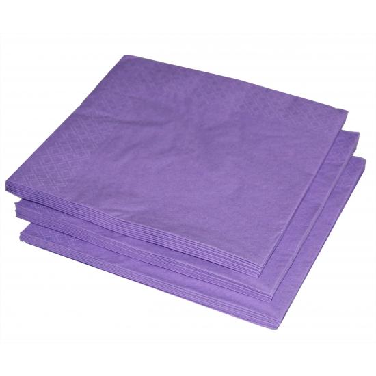 Image of Kleuren versiering paars servetten 25x