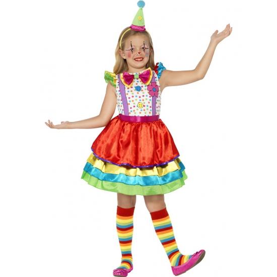 Image of Kleurrijk clowns jurkje voor meisjes