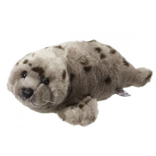 Image of Knuffel zeehond grijs met stippen 40 cm