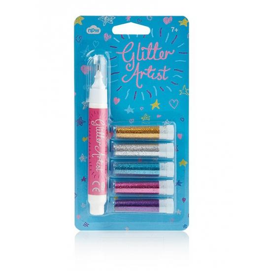 Image of Knutsel glitter pennen licht