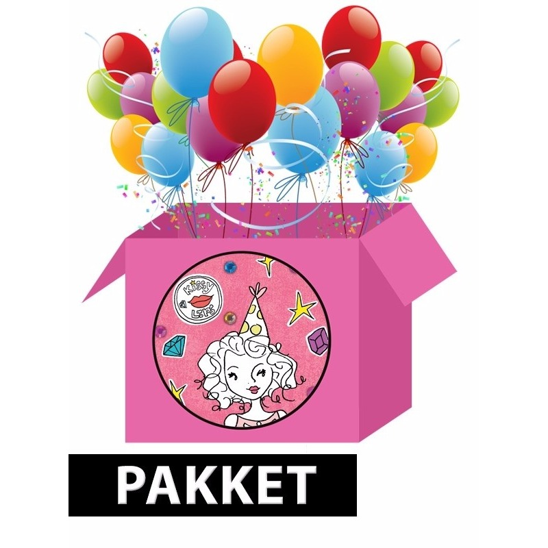 Image of Knutsel kinderfeest pakket voor meisjes