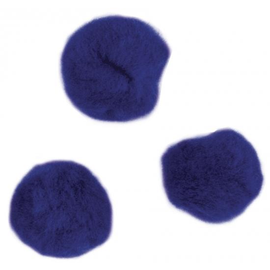 Image of Knutsel pompons 60 stuks 15 mm donkerblauw