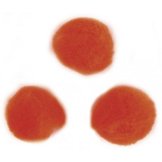 Image of Knutsel pompons 60 stuks 15 mm oranje