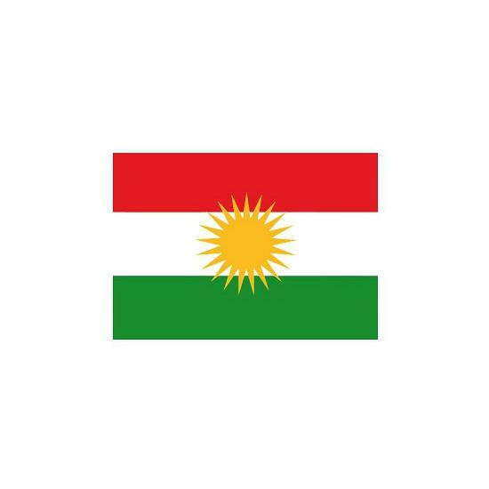 Koerdistan vlaggetjes stickers