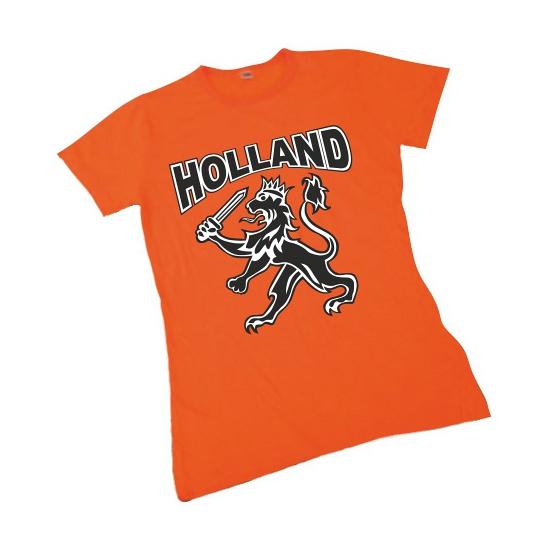 Koningsdag Holland shirt met leeuw dames