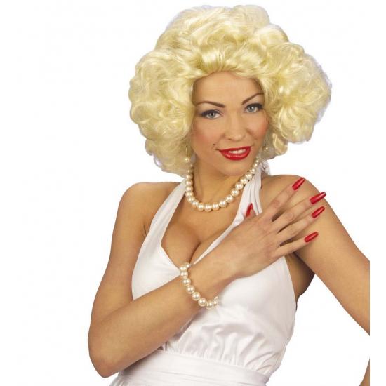 Image of Korte krullen pruik voor dames